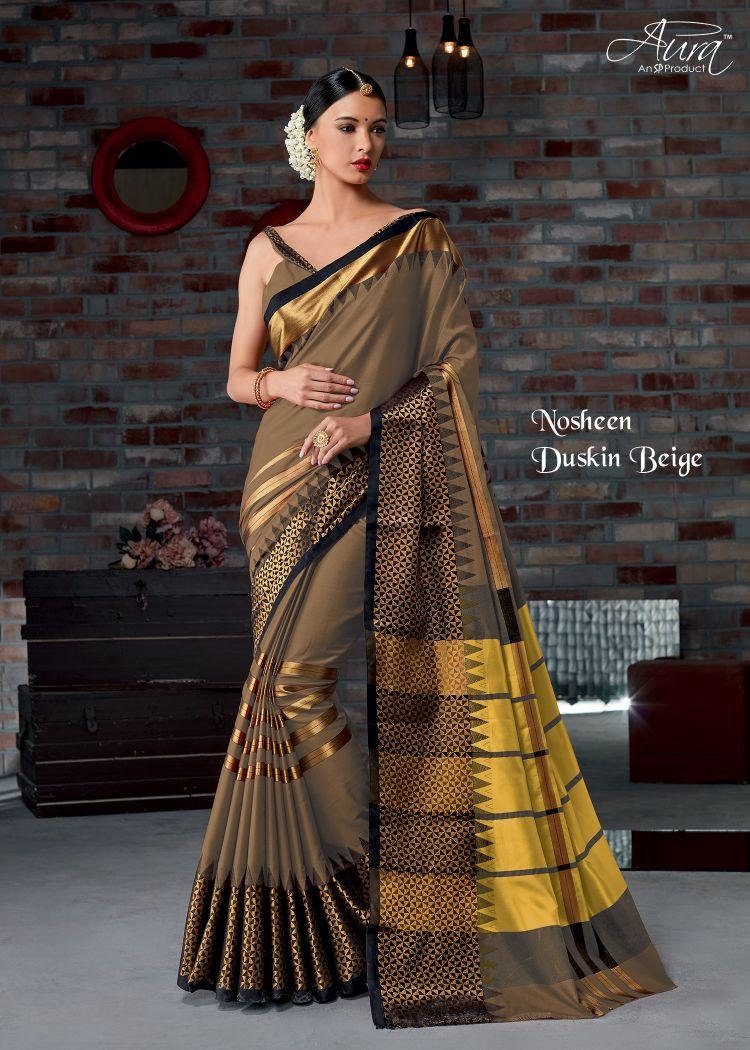 Nosheen-New Arrival Designer pure silk cotton Saree