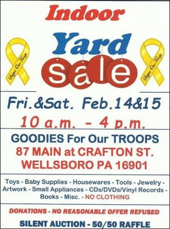2-14/15 Indoor Yard Sale