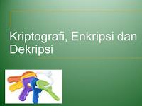 Kriptografi , Enskripsi dan Deskripsi