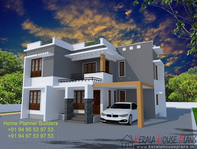 Contemporary Box model house 2030 sqft