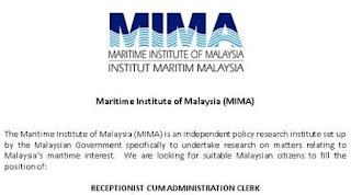 Institut Maritim MIMA Kerja Kosong