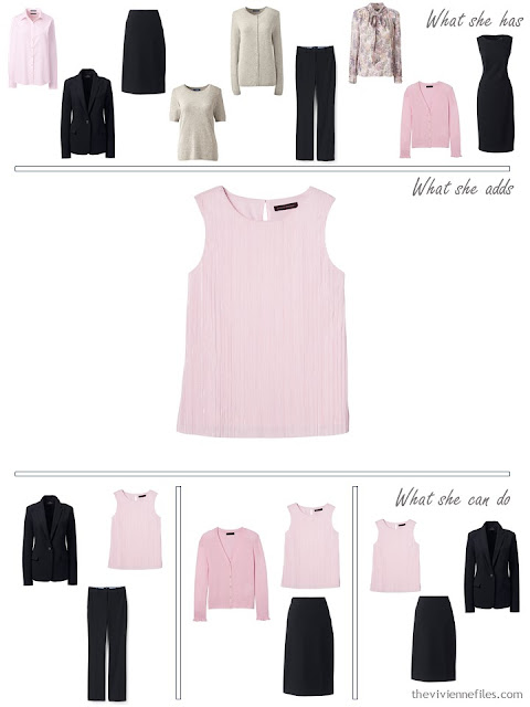 Adding a pink top to a 4 by 4 Wardrobe