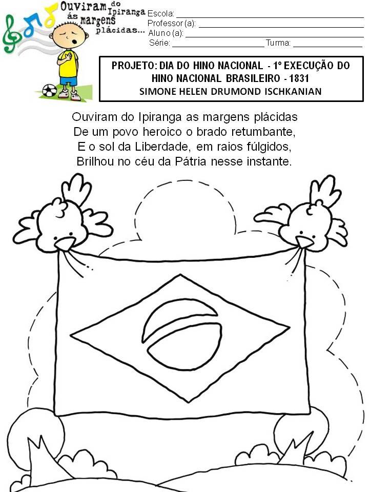 Suficiente Simone Helen Drumond : 41 ATIVIDADES COM O HINO NACIONAL BRASILEIRO AA02