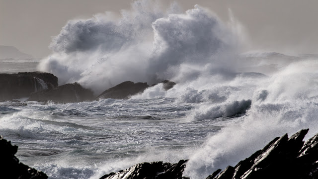 waves at Colonsay, Scotland