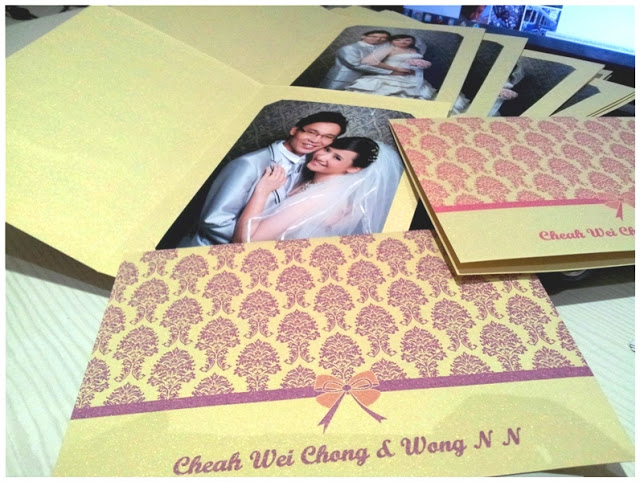Wedding Photo Cover, Metalic Card