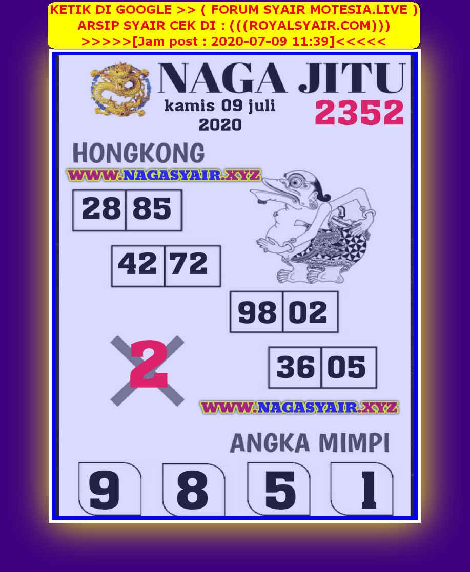 Kode syair Hongkong Kamis 9 Juli 2020 268