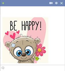 Be happy emoji