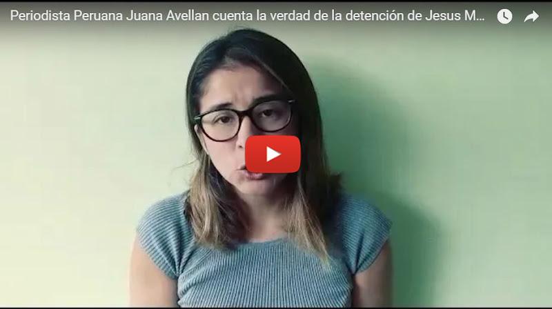 Reportera peruana fue testigo de la detención de Jesús Medina y nos lo cuenta todo