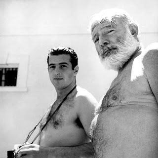 "Antonio Ordonez and Ernest Hemingway, 1959. Malaga, Spain, ""La Consula"" (Davis Estate)"