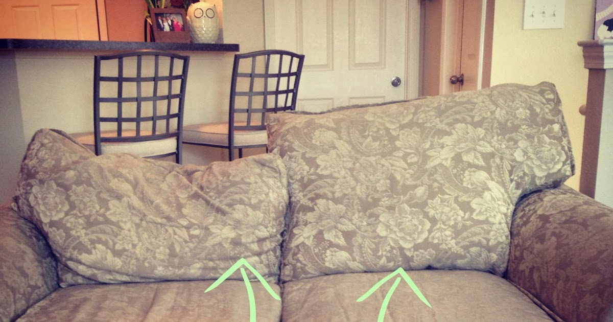 Project Randi Easy Fix For Sagging Couch Back Cushions