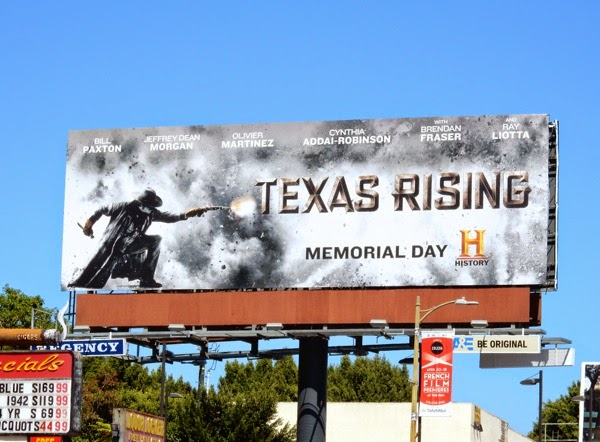 Texas Rising TV miniseries billboard