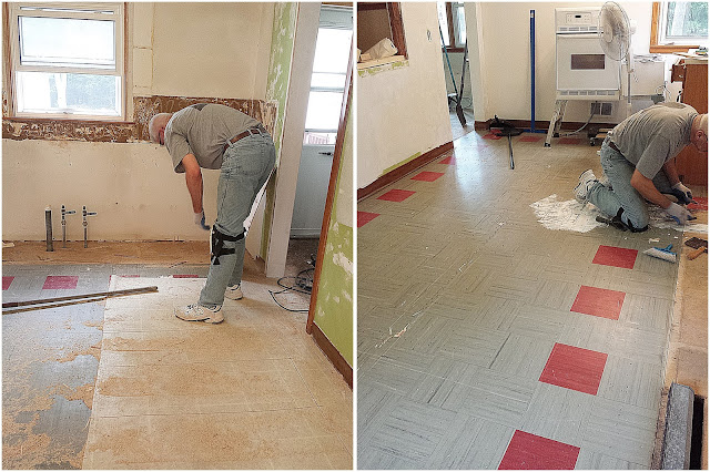 Removing the kitchen floor