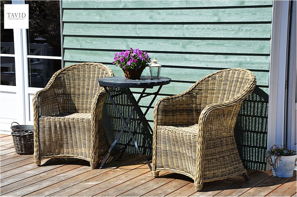 im sale gefunden outdoor rattan sessel mit wei em kissen maritimer wohnen coastal living. Black Bedroom Furniture Sets. Home Design Ideas