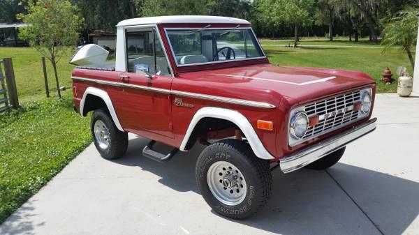 Ford Bronco For Sale Craigslist >> 1977 Ford Bronco Half-Cab Orignal 4x4 For Sale $27,900