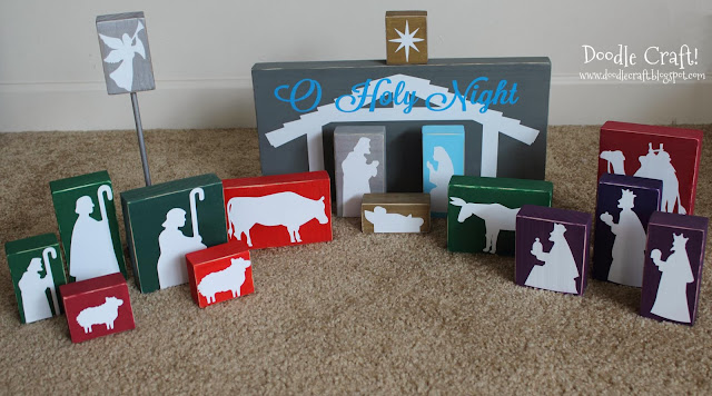 http://doodlecraft.blogspot.com/2012/12/wooden-silhouette-vinyl-nativity-set.html