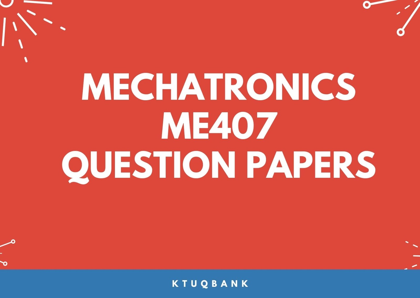 Mechatronics | ME407 | Question Papers (2015 batch)