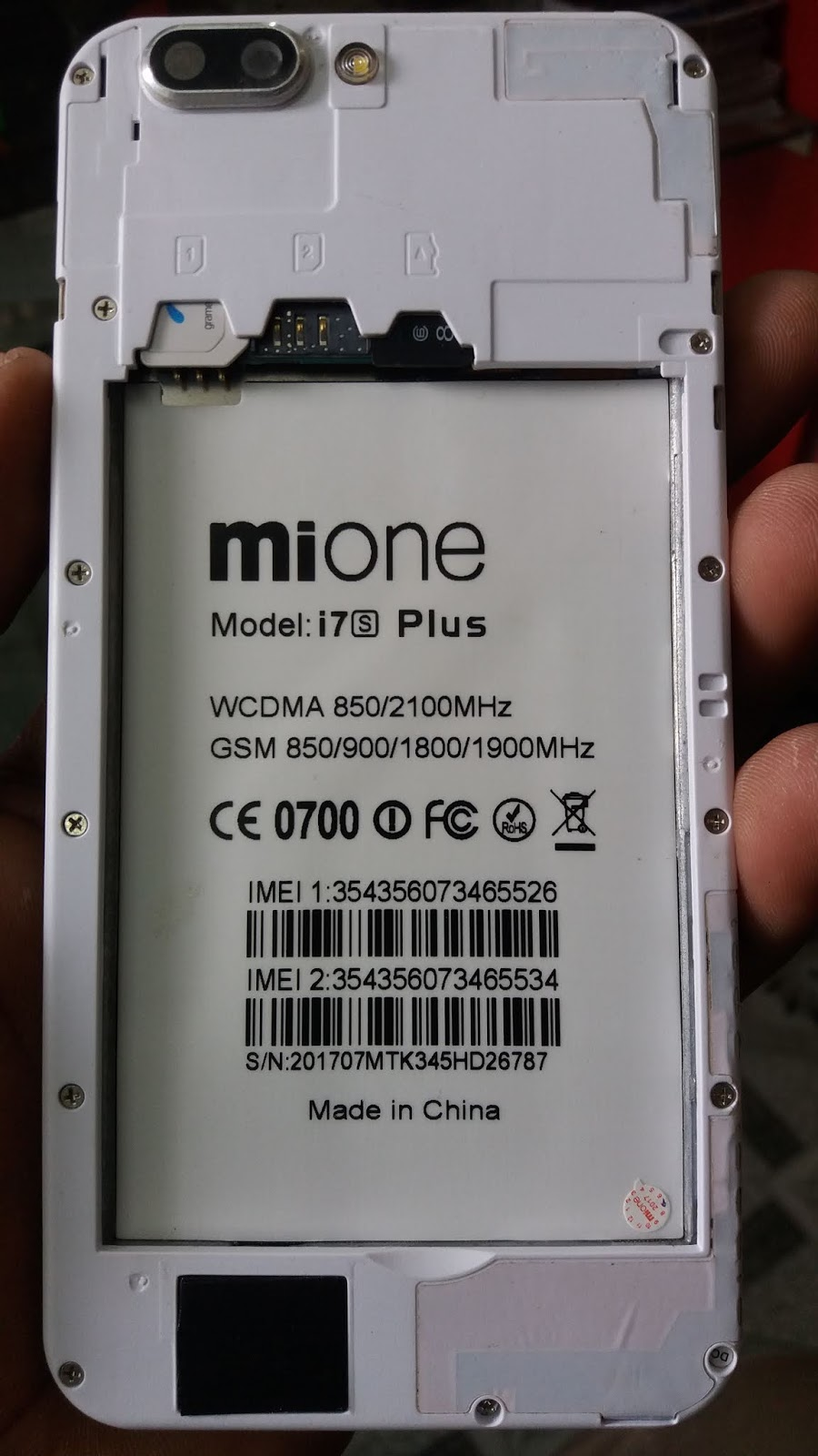 MIONE i7s PLUS Flash File | Firmware | Rom