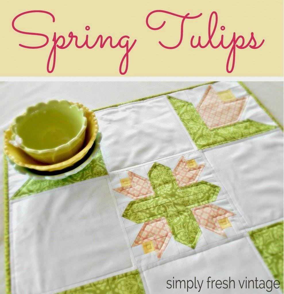 A spring tulip quilt.