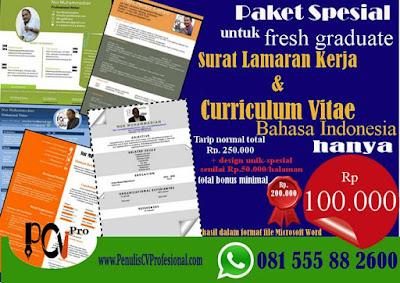 Jasa Pembuatan Curriculum Vitae Murah