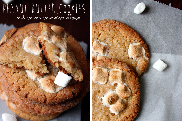 Peanut Butter Cookies mit Mini Marshmallows || Kochkarussell