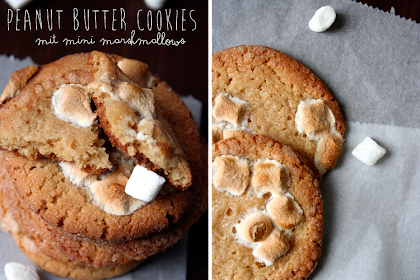 Göttliche Peanut Butter Crinkle Cookies mit Mini Marshmallows