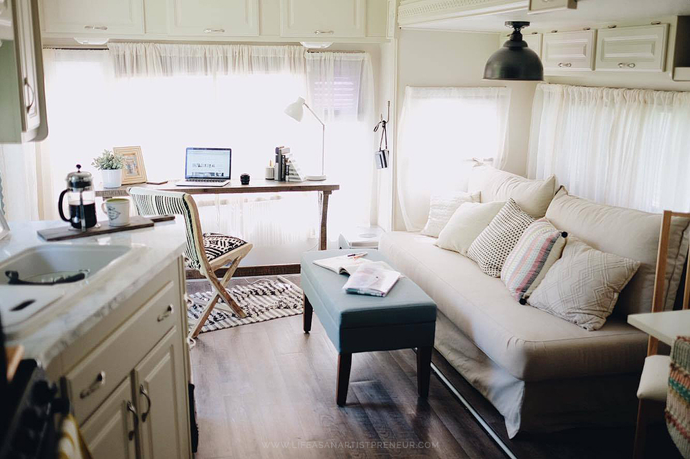 Our 5th Wheel RV Renovation Reveal The Glamper Life As
