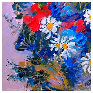 купить картину с цветами, цветочный натюрморт, красные маки