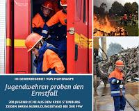 Übung der Steinburger Jugendwehren in Hohenaspe