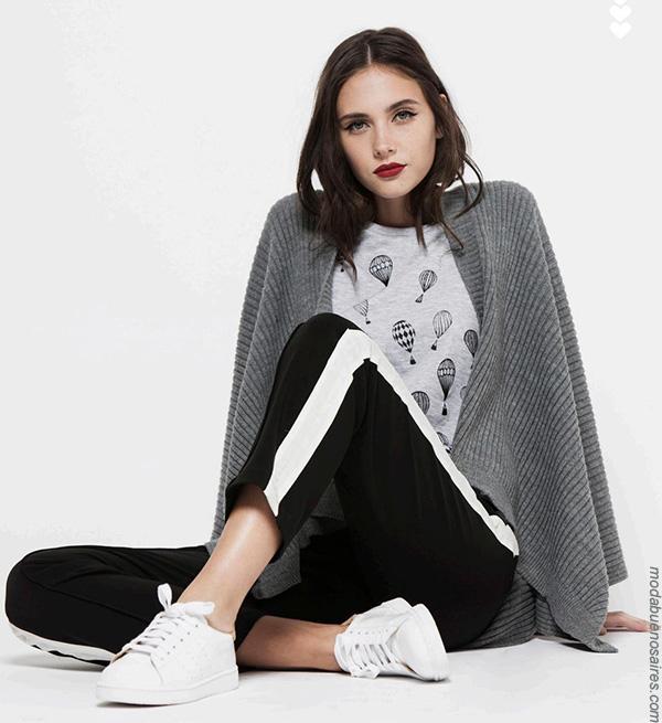 Ruanas y ponchos invierno 2017 ropa de mujer moda.