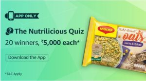 amazon  NutriLicious Quiz rs5000 earn money