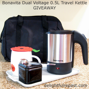 Tea Travel Kit - Bonavita Giveaway - Dual-Voltage Travel Kettle / www.delightfulrepast.com