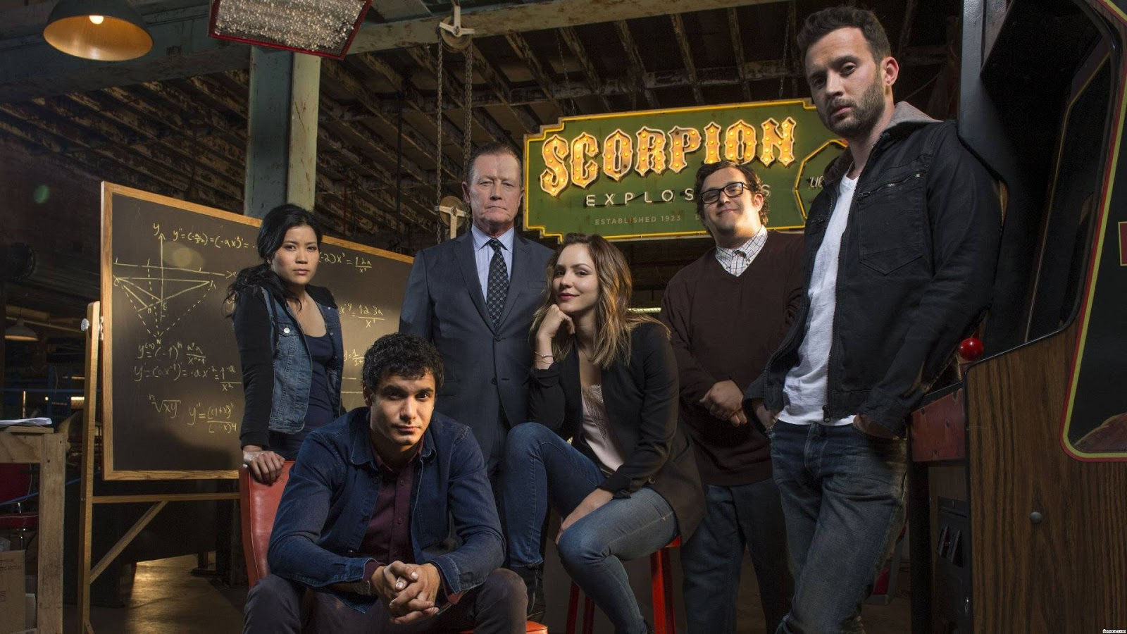 personagens seriado scorpion