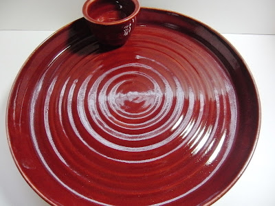 Lazy Susan made on pottery wheel