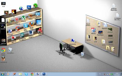 Lustige Desktopbilder Hintergrund perfekt aufgeräumt