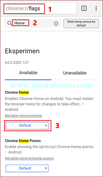 Cara Memindahkan Address Bar Chrome Android