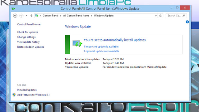 Windows Update: actualizaciones importantes y opcionales