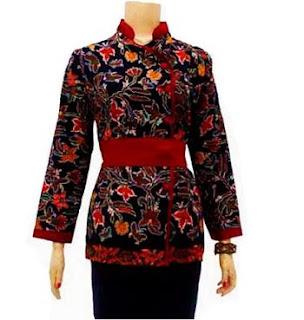 Gambar Model Baju Kerja Batik Modern