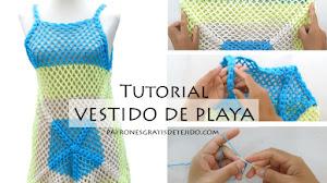 Cómo Tejer Vestido de Playa a Crochet / Tutorial en español