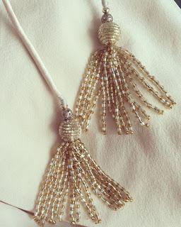 Tassels for Saree Blouse Designs, saree blouse with tassels, figure motif tassels, indian tassels for blouse, saree blouse tassel designs, fabric tassels for saree blouse, latkan for saree blouse, top latkan designs, thread tassels, beaded tassels for blouses,