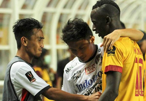 Bali United Puas Tahan Imbang Sriwijaya FC di Leg Pertama Pilpres 2018