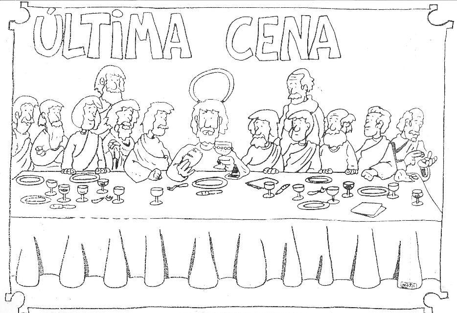 Increíble La última Cena Para Colorear Imprimible Imágenes - Dibujos ...