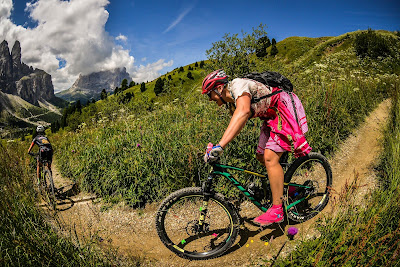 Mountainbike Trail Dolomiten