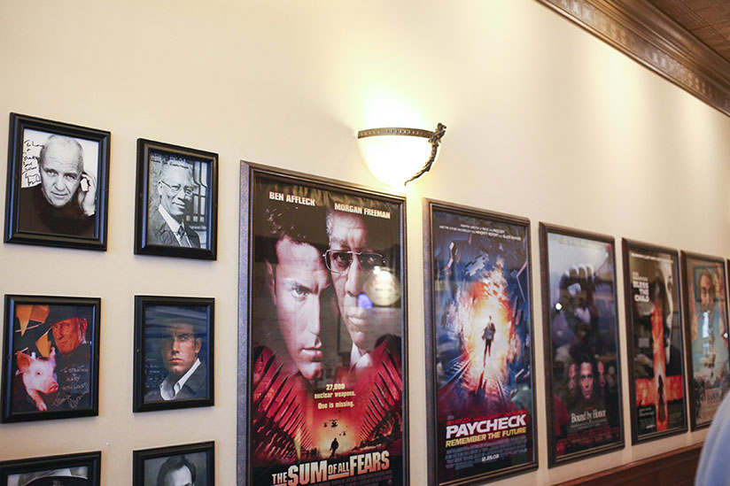 Mover posters decorate the walls of Leopold's Icecream in Savannah