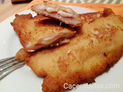 Libritos de pollo con jamon serrano y queso