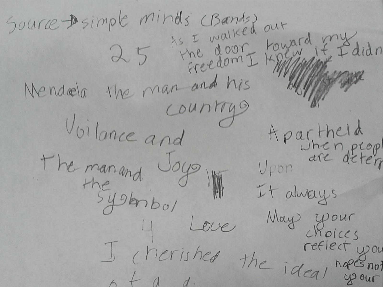Krueger Connection-Grade 5: 6 Word Memoir Poems~Honoring