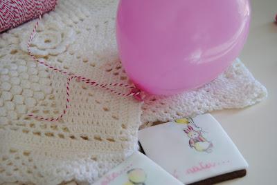 biscotti dipinti per una nascita bimba