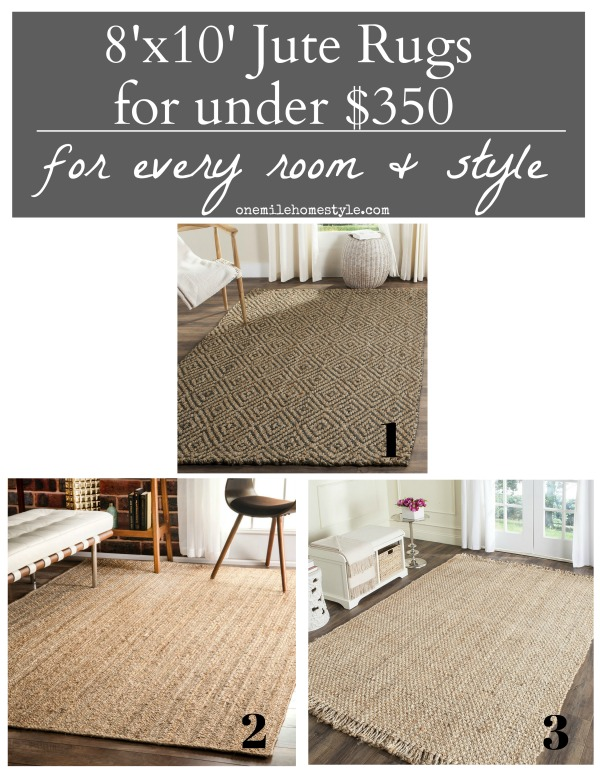 Large 8x10 Jute Area Rugs Under $350, perfect for adding cozy texture and warmth to your home.