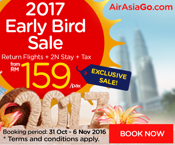 AirAsiaGo.com's Early Bird 2017 Sale is on NOW!