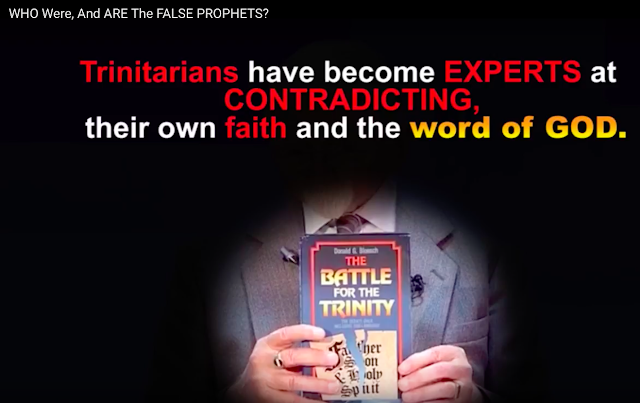 Trinitarians like David Pawson prove they are EXPERTS at CONTRADICTING the word of GOD.