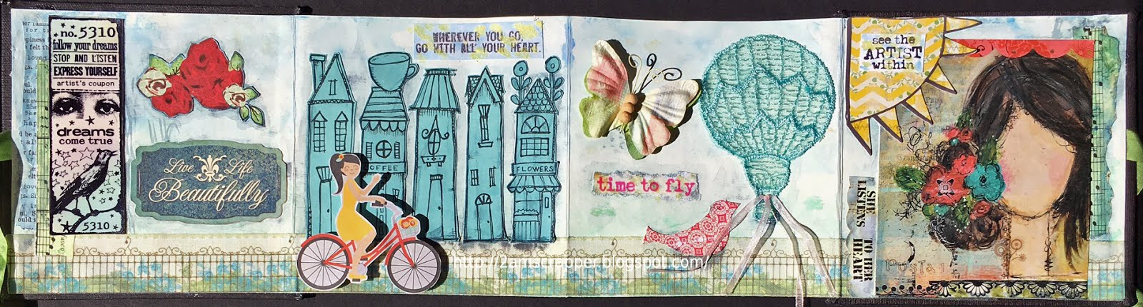 for May Accordian Art Journal mini